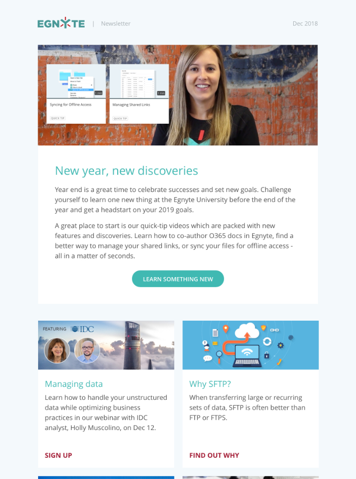Thumbnail of December 2018 Egnyte Customer Newsletter