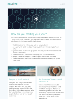Thumbnail of March 2020 Egnyte Customer Newsletter