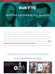 Thumbnail of September 2015 Egnyte Customer Newsletter