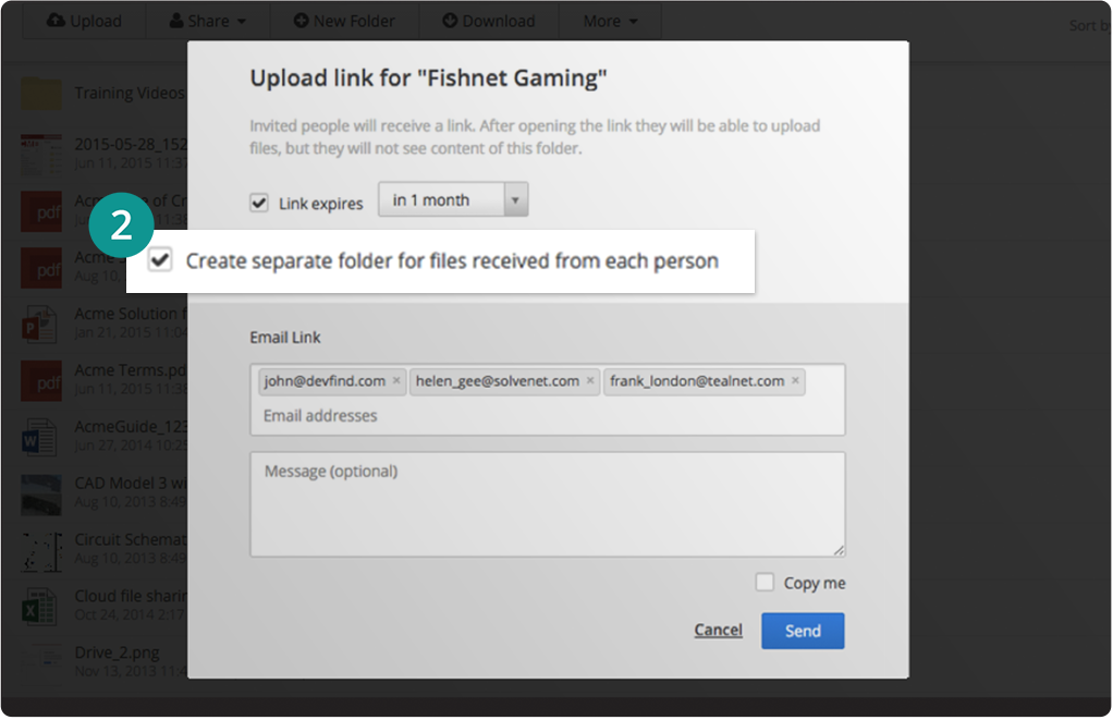 File sharing folders