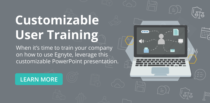 Egnyte Customizable User Training
