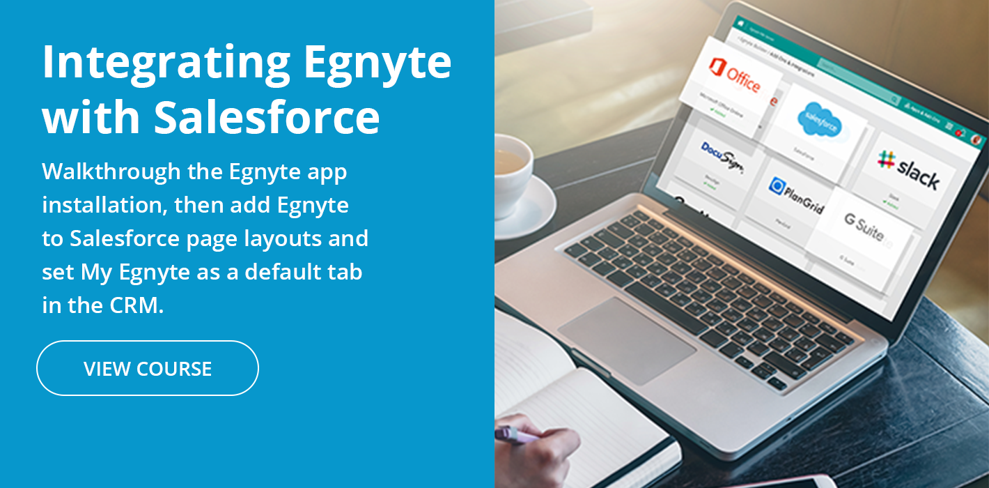 Integrating Egnyte Connect with Salesforce